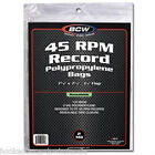 100 BCW Record Covers 45 rpm Plastic Outer Bags Holders - RESEALABLE