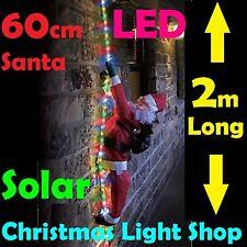 Solar rope light christmas lights ebay solar led ropelight w santa multicolour flashing outdoor christmas xmas light 2m aloadofball Image collections
