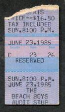 Original 1985 The Beach Boys America concert ticket stub Surfin Usa