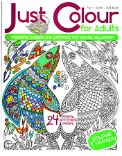 Just Colour For Adults issue 1 - Art Therapy - Adult Colouring Book -  NEW
