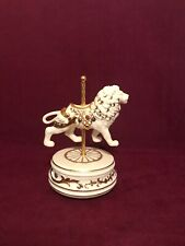 "San Francisco Music Box Company Jp 4"" Carousel Lion 60-32109-1-00 Tested"