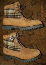 Timberland Woolrich Boots Brown Leather Lace Up Work Wool Shoes US MEN'S SIZE 13
