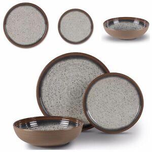 Melamine Dinner Set Plates Bowls Mugs BBQ Camping Picnic Crockery Farmhouse Set