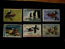 1960/1970's US LOT of 6v used revenues Duck stamps