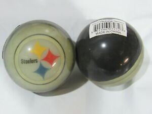 """NFL Pittsburgh Steelers Super Balls 2"""" Bouncy Rubber Balls Lot of 2"""