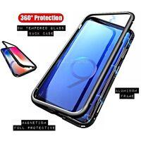 COVER per Samsung in Alluminio Crystal Glass MAGNETICA con RETRO VETRO TEMPERATO