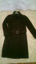 Next dark grey double breasted coat trench style size 8 , will suit 8-10