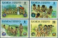 Samoa 1973 SG405-408 Scouts set MNH