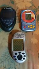 Lot 3 Handheld Games. Battleship, Lighted Solitaire, Chess&Checkers Tested Works