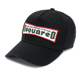 DSQUARED2 KARMA ICONIC BASEBALLKAPPE LOGO BASEBALL CAP KAPPE HAT HUT CAPPY NEW