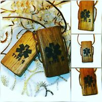 Diabetic Type 2 TYPE 1 Diabetes Necklace Handmade TEAK Wooden Engraved Pendant