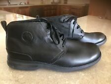 Mens Slatters Comfort Walker Lace Up Dress Boots Black Size 10