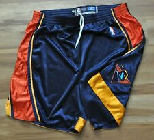 GOLDEN STATE WARRIORS Team Issued Pro Cut Shorts NBA Thunderbolt Reebok Blue 48