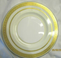 6 Minton antique salad/dessert plates for Tiffany & Co- real gold plate accents