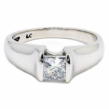 0.73 Ct Princess Cut Diamond Engagement Ring %100 Natural