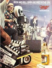 1986 The Long Ryders Band La Video Shoot photo Miller Beer vintage print ad