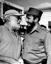 Ernest Hemingway Fidel Castro 8x10 Photo 009