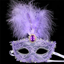 Stunning Venetian Masquerade Mask Eye Halloween Party Feather Lace Fancy Dress