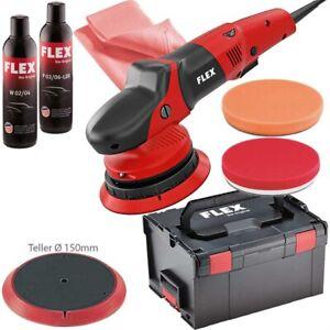 FLEX Exzenterpolierer XFE 7 15 150 447.110 15mm Hub im Set L BOXX viel Zubehör