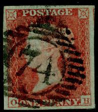 SG8, 1d rojo-pardo placa 157, Fine Used. Cat £ 50.' 74' distrito londinense. Oh
