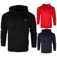 Nike Men's Long Sleeve Embroidered Swoosh Fleece Pullover Hoodie