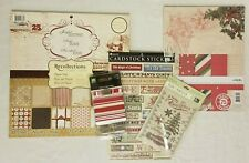 RECOLLECTIONS Signature Holiday Christmas Paper Pad 48 Sheets + EXTRAS