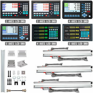 VEVOR Lettura Digitale LCD/LED 2/3/4/5 Assi Scala Lineare Precisione 120-2000 mm