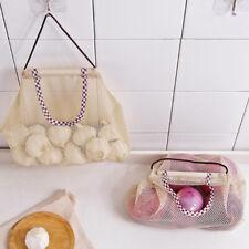 Fruit Vegetable Garlic Onion Hanging Storage Bag Reusable Mesh Bags OrganizSE
