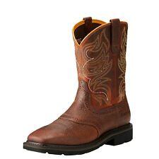 Ariat Sierra Shadowland Work Boots Steel Toe Pull On Leather Men 10021469