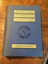 Adventure in American Literature Third Edition Vintage Book Text Inglis Gehlmann
