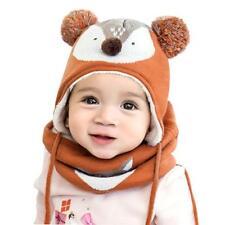 Bambini Ragazzi Bambino Cappello Con Sciarpa a Maglia Autunno Inverno Cappello Con Sciarpa Legare Set