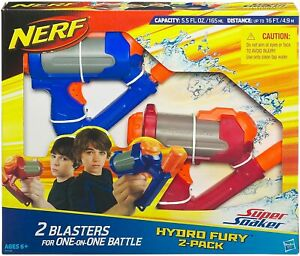 Nerf Water Gun Pistol - Super Soaker Hydro Fury 2 Pack