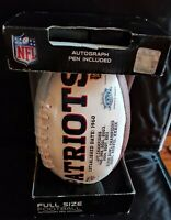 New England PATRIOTS SIGNATURE SERIES Full size NFL FOOTBALL NEW in box