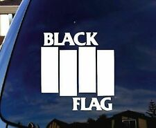 Black Flag white sticker for cars or laptops