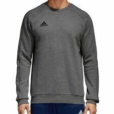 Adidas Mens Core 18 Sweatshirt Charcoal/Grey Crew Neck Sweatshirt Casual CV3960