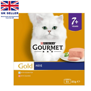 Purina Gourmet Gold Senior Pate with Fish and Salmon Cat Food (85 g) UK