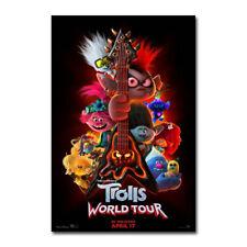 Trolls World Tour Movie Poster Art Silk Canvas Poster Print 24x36'' Home Decor