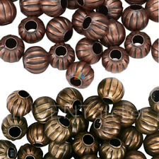1484 Copper Oval Bead 5mm PK100 *UK  SHOP*