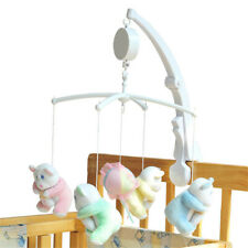 Baby Crib Bed Hanging Bell Wind-up Rotating Music Box Kids Develop Toys Gift W2