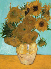 Vincent van Gogh Vase with  Sunflowers 8.3X11.7 canvas print poster reproduction