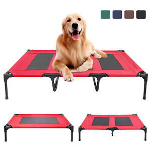 Elevated Dog Bed Camp Lounger Sleep Pets Cat Raised Cot Hammock Indoor Outdoor