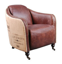 Club Chair winmchester Vintage Leather Jute Leather Chair Armchair Design Chair NEW
