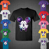 Twisted Disney Mickey Mouse Middle Finger Cartoon Hands Galaxy Tee T Shirt Top