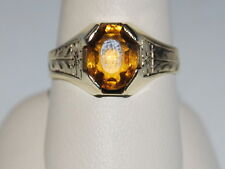 10K Gold Ring with a Citrine gemstone(November Birthstone)