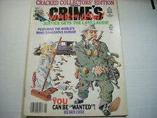 Cracked Collector's Edition Crime's War on Law! - May 86 - VF