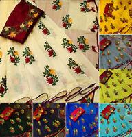Bollywood Designer Sari Traditional Collection Wedding Saree Blouse Indian 4077