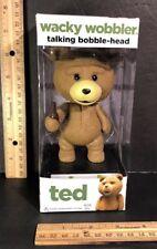 TED Talking WACKY WOBBLER Bobble Head FUNKO 2012 Rated R Teddy Bear Figure NIB