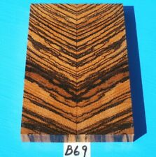 ZEBRAWOOD KNIFE SCALES~ONE PAIR KNIFE HANDLE GRIPS~EXOTIC WOOD~EXOTIC LUMBER