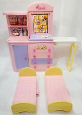 Barbie Happy Family Changing Table Dresser Nursery with Tub & 2 Kelly Doll Beds