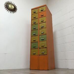 Vintage Industrial pigeon Hole Storage Steel Cabinet